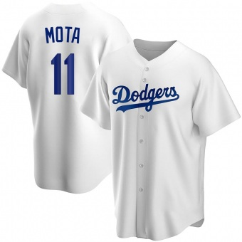 Youth Replica Los Angeles Dodgers Manny Mota Home Jersey - White