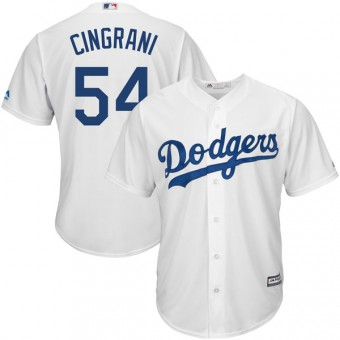 Youth Replica Los Angeles Dodgers Tony Cingrani Majestic Cool Base Home Jersey - White