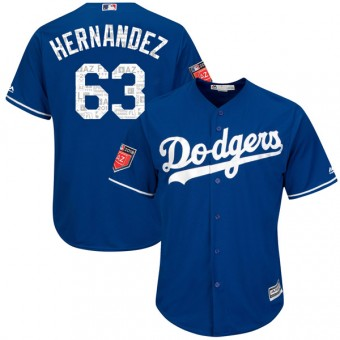 Authentic Los Angeles Dodgers Ariel Hernandez Majestic Cool Base 2018 Spring Training Jersey - Royal